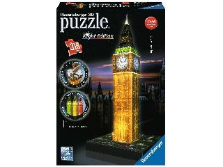 Puzzle 3D 216 db - Big Ben világító