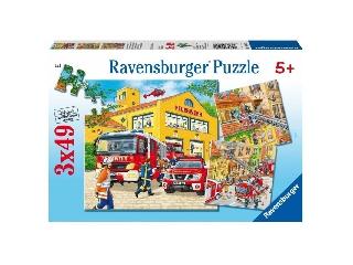 Tűzoltók  3x49 db-os puzzle