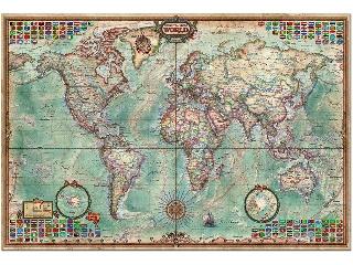 Világtérkép - 4000 darabos kirakó
