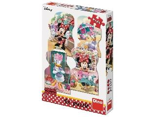 Puzzle 4 x54 db - Minnie és Dais