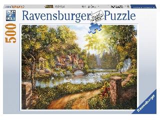 Puzzle 500 db - Ház a folyónál