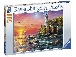 Puzzle 500 db - Világítótorony éjjel