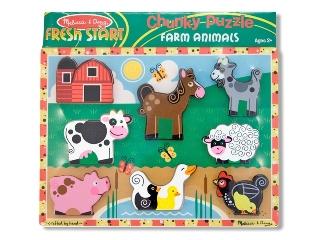Puzzle 8 db-os farmon élő állatok  7235