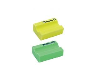 Radír 2 db Neon - ceruzatartós forma, zöld és sárga