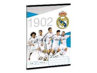 Real Madrid 1. oszt. vonalas A/5 füzet 14-32