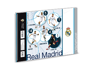 Real Madrid spirál vázlatfüzet B/5