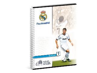 Real Madrid A/4 kockás spirál füzet