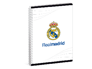 Real Madrid kockás spirál füzet A/6