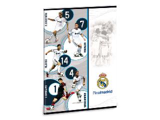 Real Madrid vonalas füzet A/4