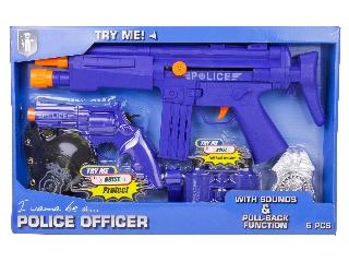 Rendőr fegyver készlet 6 db-os