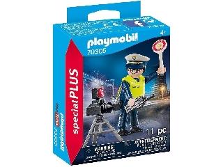 Rendőr sebességmérővel