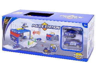 Rendőrségi parkolóház autóval és helikopterrel