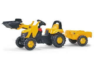Rolly Toys JCB markolós traktor + utánfutó