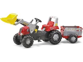 Rolly Toys Junior markolós traktor és utánfutó