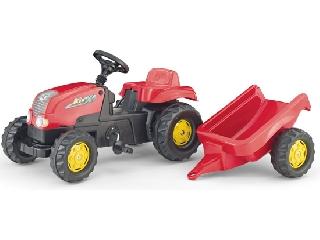 Rolly Toys Kid pedálos traktor - piros