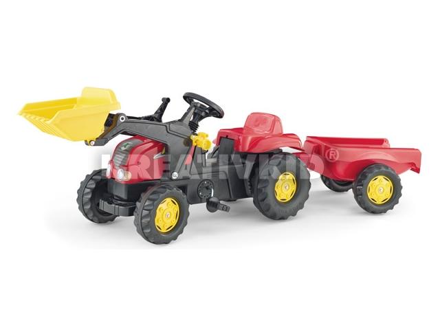 Rolly Toys Kid-X traktor utánfutóval