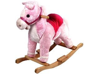 Rózsaszín póni hintaló