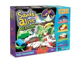 Sands Alive - Világító járgányok homokgyurma készlet