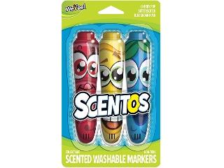 Scentos - 3 Illatos filctoll egy csomagban (piros-sárga-kék)