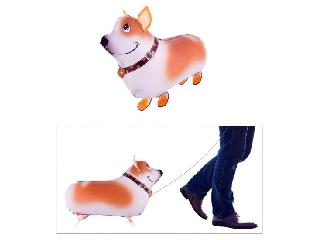 Sétáló kutya fólia lufi - 59 cm héliummal felfújva