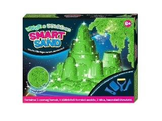 Smart Sand - Sötétben világító homokkészlet - zöld