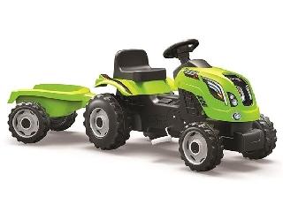 Smoby: Farmer XL traktor untánfutóval - zöld