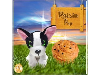 Süti kutyus kifordítható plüssfigura - Mazsi