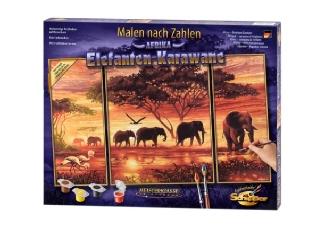 Számfestő : Elefánt karaván