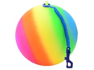 Szivárvány labda madzaggal