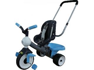 Szülőkaros tricikli, kék