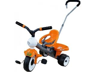 Szülőkaros tricikli - narancssárga