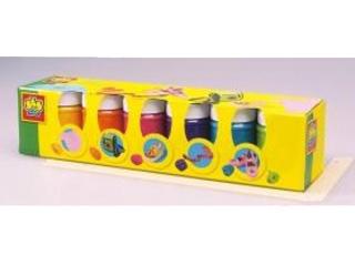 Tégelyes textilfesték 6 színű