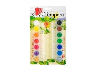 Tempera készlet tégelyes 14 szín