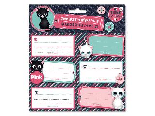 Think Pink csomagolt füzetcímke (3x6 db)