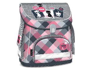 Think-Pink kompakt easy mágneszáras iskolatáska + ajándék Activity Family társasjáték