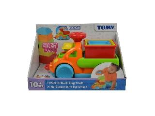 Tomy - Színes csészerakosgatós játékteherautó