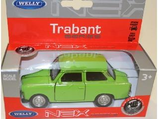 Trabant fém autó 12 cm-es világoszöld