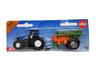 Traktor permetezőgéppel