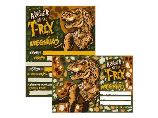 T-REX partimeghívó borítékkal