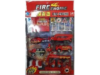 Tűzoltó autó 20 darabos készlet