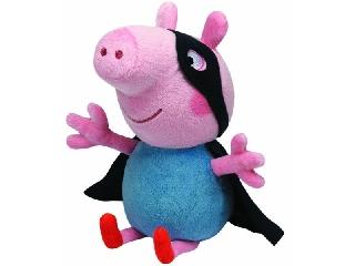 TY Beanie Babies: Peppa malac plüssfigura, 28 cm - George, a szuperhős
