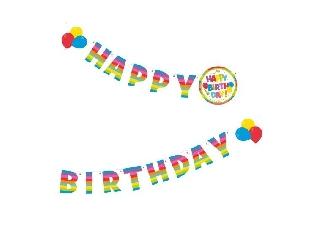 Üdvözlő felirat 2m Happy Birthday