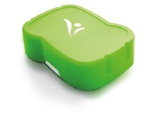 Uzsonnás doboz - higiénikus műanyagból zöld