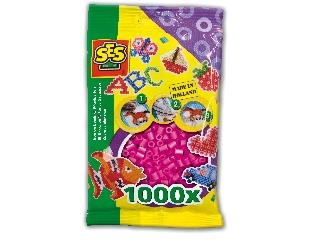 Vasalható gyöngy - 1000 db neon rózsaszín