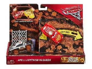 Verdák 3 - Crazy 8 crashers - Lightning McQueen és APB játékszet