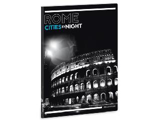 Világ városai éjszaka Róma extra kapcsos A/4 vonalas