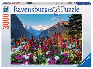 Virágzó hegyvidék - 3000 db-os panoráma puzzle