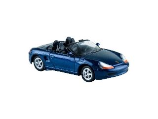 Welly Porsche Boxter kék kisautó, 1:60-64