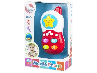 Zenélő mobiltelefon bébijáték
