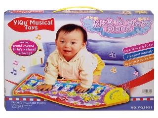 Zenélő zongorás bébi szőnyeg